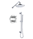 (KJ8218408) Wall thermostatic concealed shower mixer