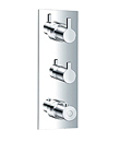 "(KJ8164106(G1/2"") KJ8164136(G3/4"")) Wall thermostatic shower mixer"